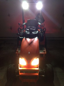 Kubota BX2360 with BX Series ROPS Lights Kit Installed