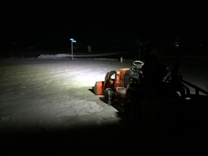 Tractor Headlights Off and ROPS Lights On